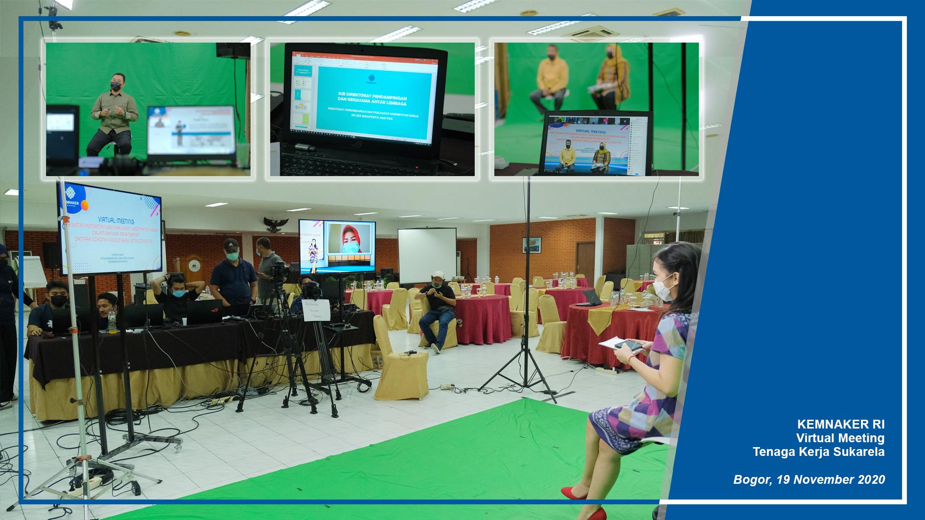 Virtual Meeting Tenaga Kerja Sukarela Kemnaker